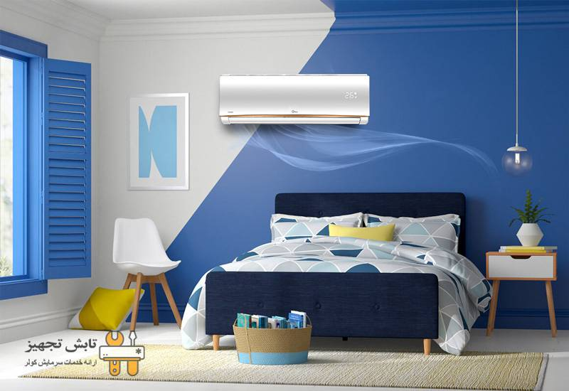 کولر گازی در اتاق خواب